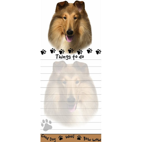 Collie Tall Magnetic Notepad