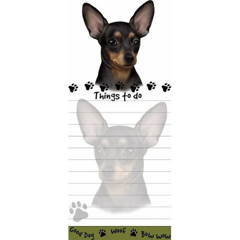 Chihuahua Black Tall Magnetic Notepad