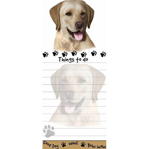 Yellow Labrador Tall Magnetic Notepad