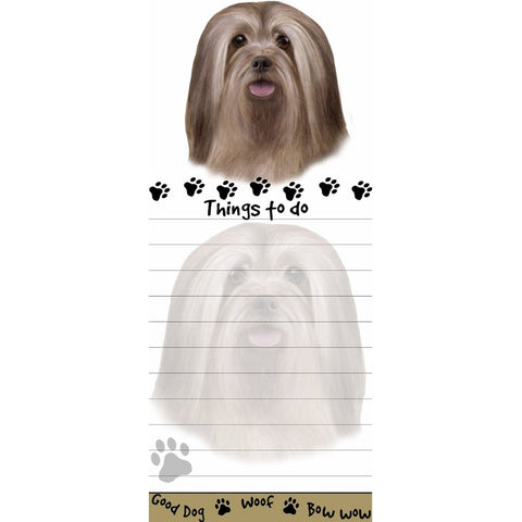 Lhasa Apso Tall Magnetic Notepad