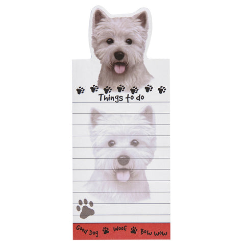 Westie Tall Magnetic Notepad