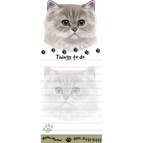 Persian Cat Tall Magnetic Notepad