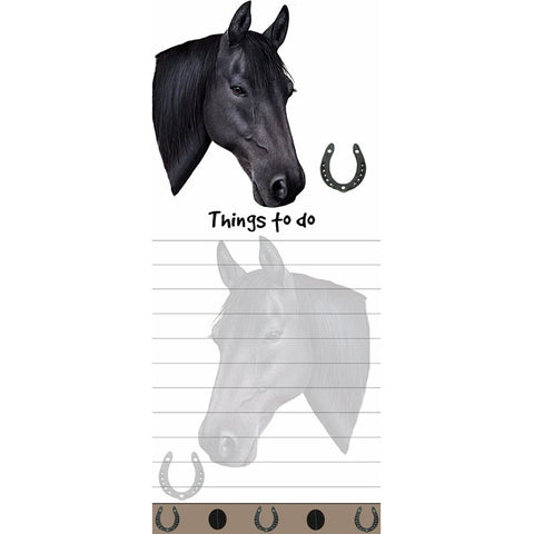 Black Horse Tall Magnetic Notepad
