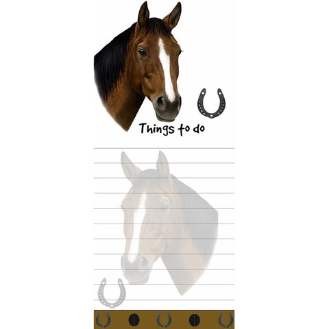 Brown Horse Tall Magnetic Notepad