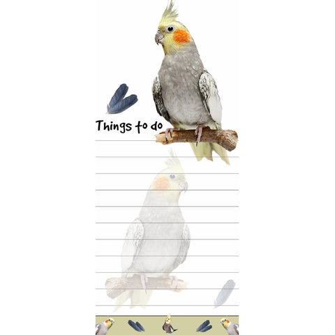 Cockatiel Tall Magnetic Notepad