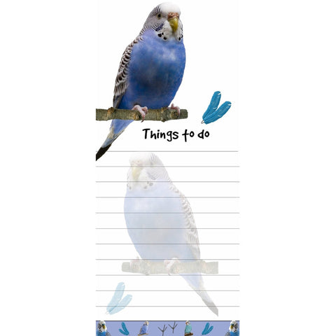 Parakeet Tall Magnetic Notepad