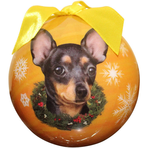 Black Chihuahua Christmas Ball Ornament