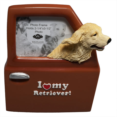 I Heart My Retriever Driving Picture Frame