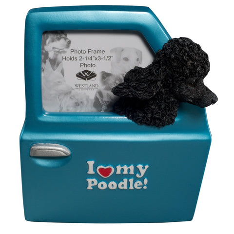 I Heart My Poodle Driving Picture Frame