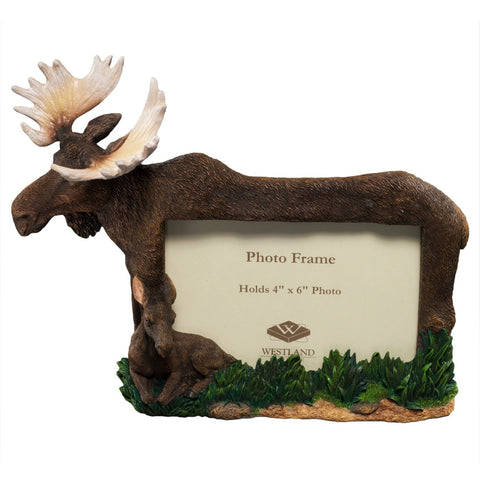 Mother Moose And Calf Picture Frame