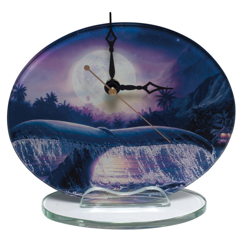 Whale Breaching In Moonlight Clock