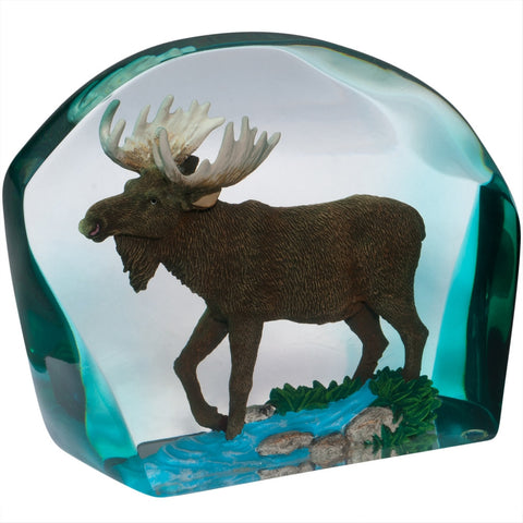 Moose Encased In Resin Figurine