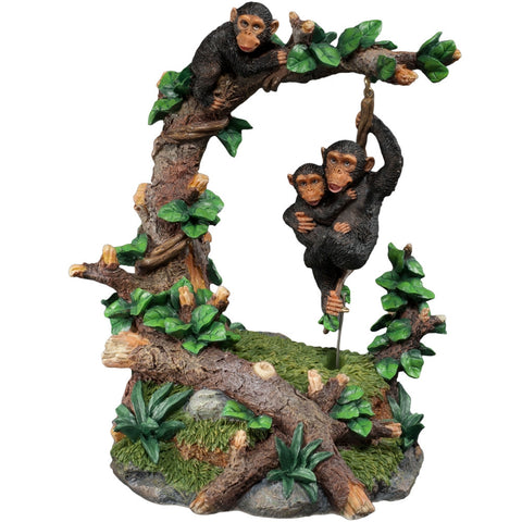 Chimps At Play Swinging Figurine