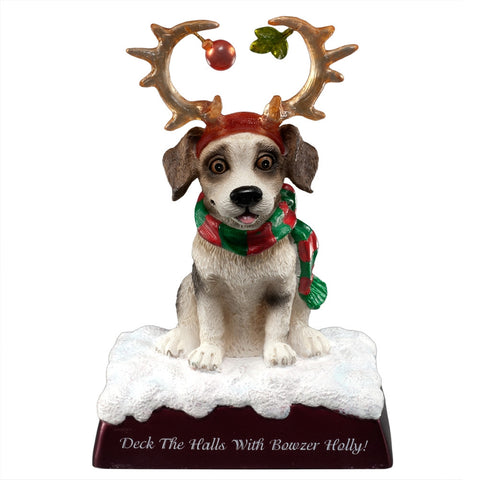 Deck The Halls With Bowzer Holly Lighted Figurine