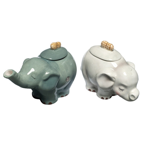 Elephants Couple Cream & Sugar Set