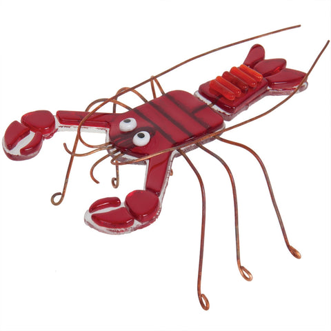 Lobster Fused Glass Figurine