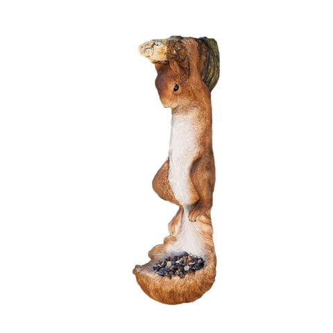 Hanging Squirrel Shaped Bird Feeder