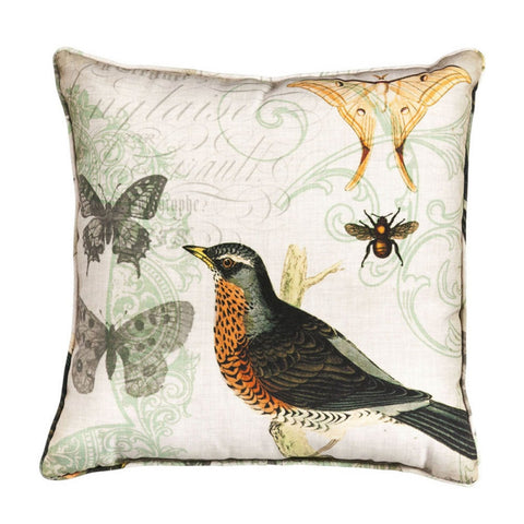 Nature's Poetry - Robin Accent Pillow