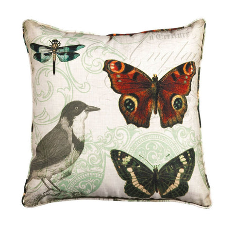 Nature's Poetry - Butterfly Wonder Accent Pillow
