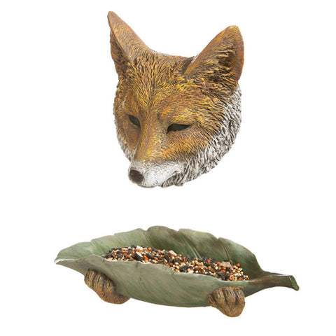 Fox Face And Paws Tree Hanging Bird Feeder