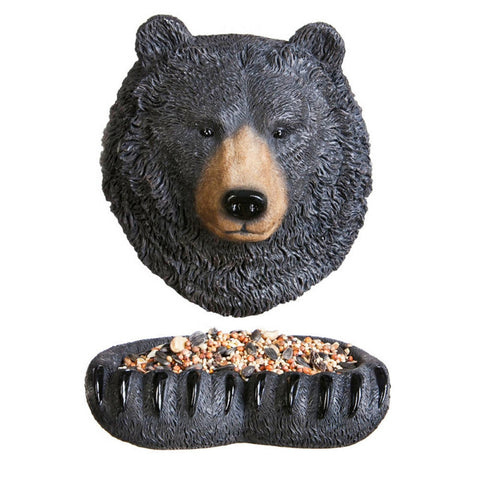 Bear Face and Paws Tree Hanging Bird Feeder