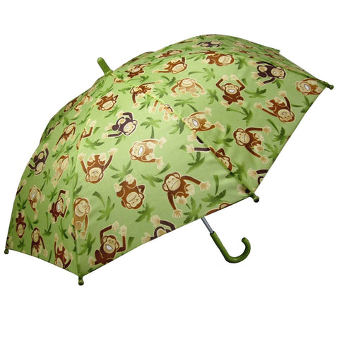 Green Monkey Print Children's Umbrella
