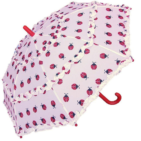 Ladybug All-Over Print Children's Umbrella With Ruffles