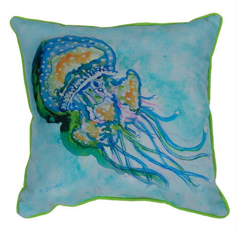 Jelly Fish Large Indoor/Outdoor Accent Pillow