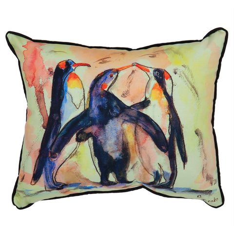 Penguins Large Indoor/Outdoor Accent Pillow