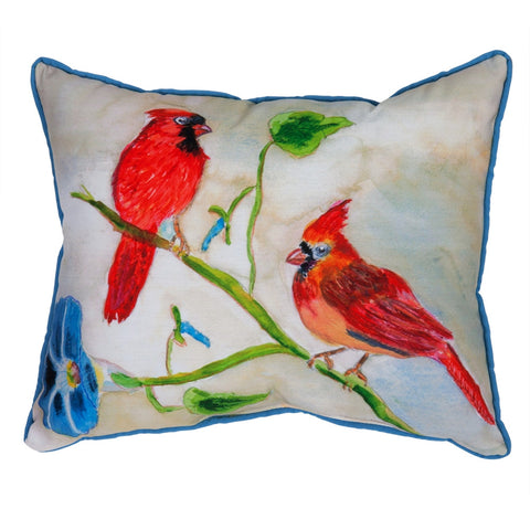Betsy's Cardinals Large Indoor/Outdoor Accent Pillow