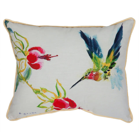 Betsy's Hummingbird Large Outdoor Accent Pillow