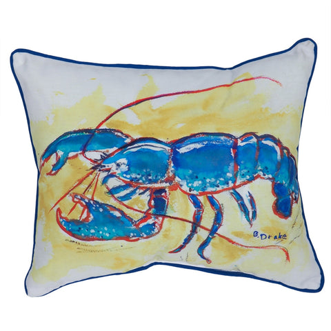 Blue Lobster Large Indoor/Outdoor Accent Pillow