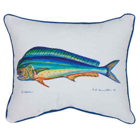 Dolphin Fish Small Indoor/Outdoor Accent Pillow