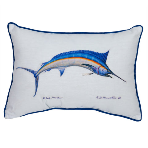 Blue Marlin Small Accent Pillow