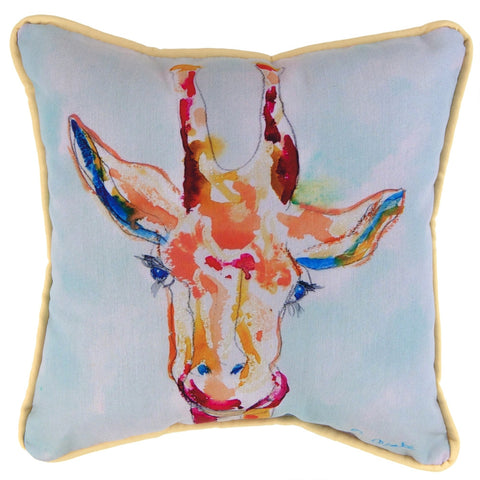 Giraffe Profile Small Indoor/Outdoor Accent Pillow