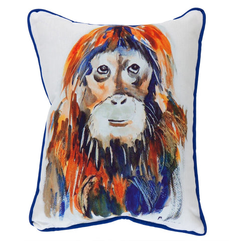 Orangutan Small Indoor/Outdoor Accent Pillow