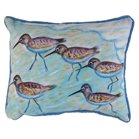 Sandpipers Small Accent Pillow