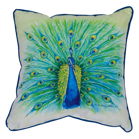 Peacock Small Indoor/Outdoor Accent Pillow