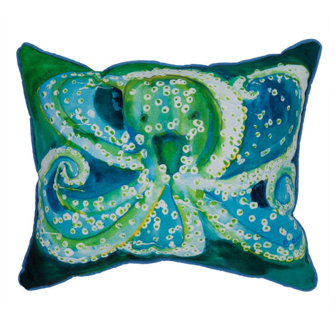Octopus Small Indoor/Outdoor Accent Pillow