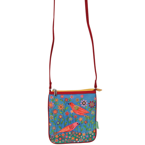 Songbirds In A Garden Mini Cross Shoulder Bag