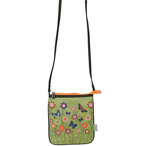 Butterflies In Flowers Mini Cross Shoulder Bag