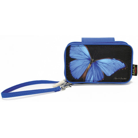 Blue Butterfly Phone Wristlet