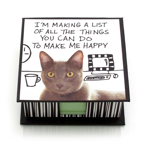 Making A list Cat Memo Pad Holder