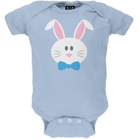 Bunny Face Blue Baby One Piece