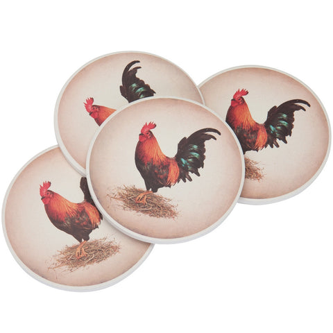 Rooster Stone Coaster
