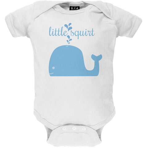 Little Squirt White Baby One Piece