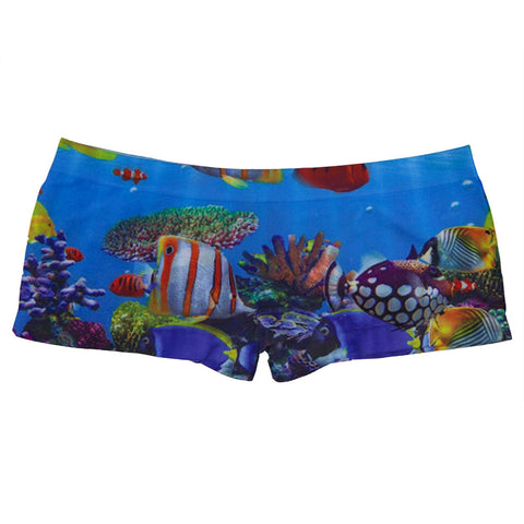Coral Fish Collage Juniors Boy Shorts