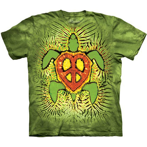 Turtle Rasta Peace Tie-Dye Kids T-Shirt