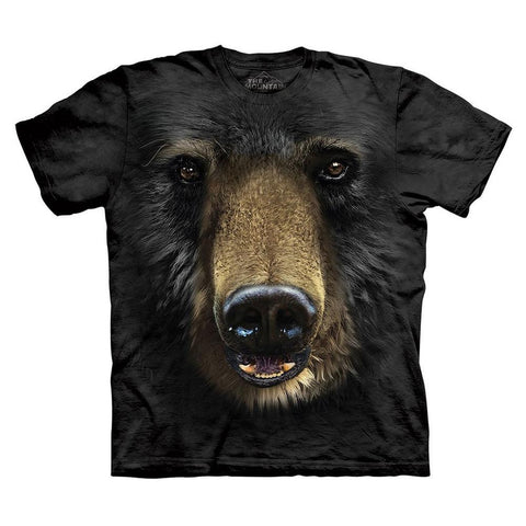 Black Bear Face Kids T-Shirt
