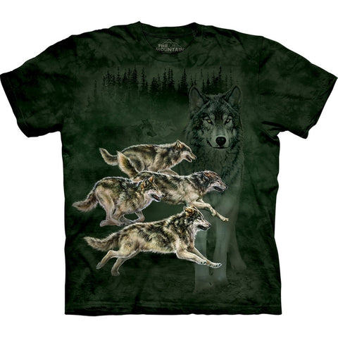 Wolves Running in Forest Kids T-Shirt